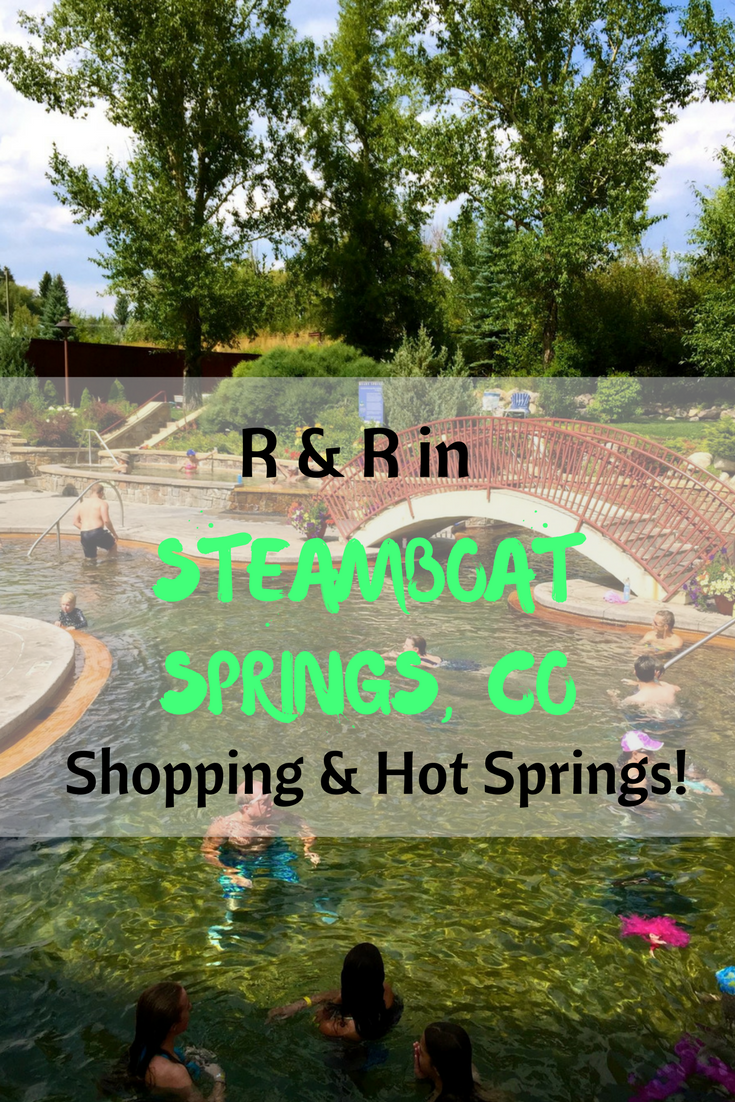 Relaxing in Steamboat Springs, CO consists of shopping and hot springs right downtown!