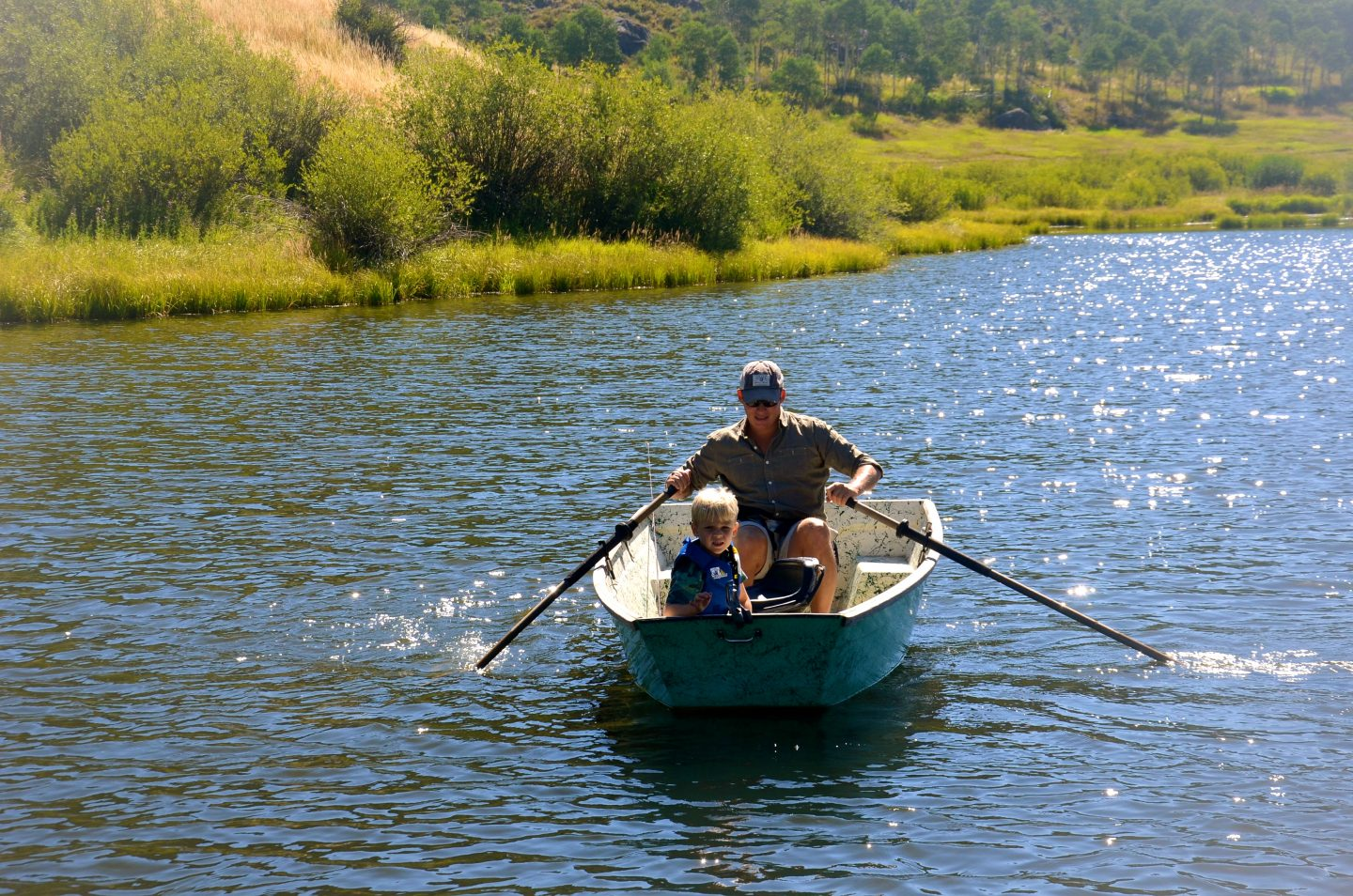 Boating and fishing in Steamboat Springs, CO.
