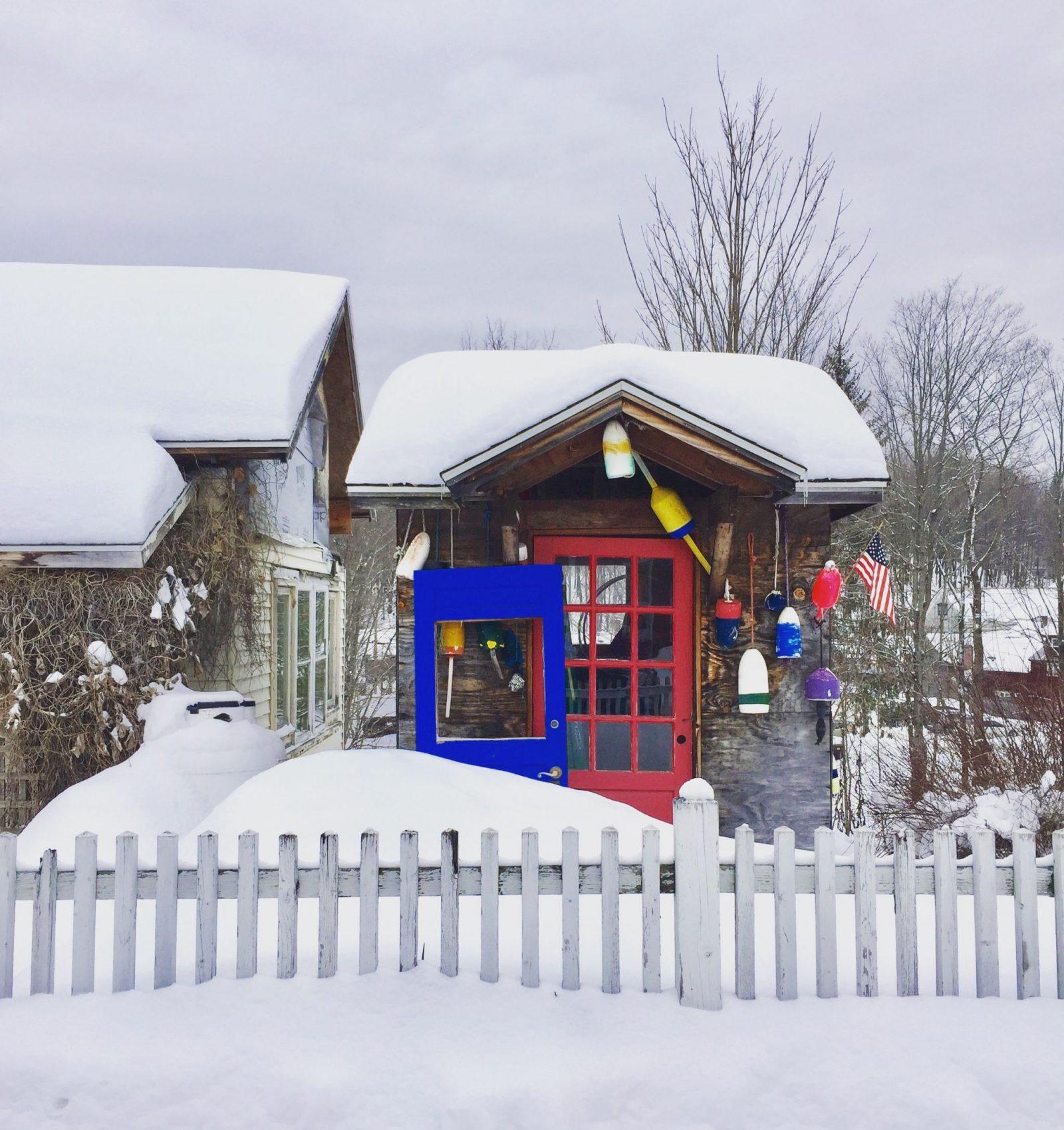 Exploring Wilmington Vermont in winter