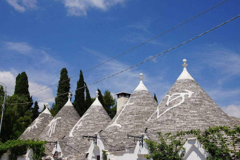 Building tops is Puglia Italy on a family vacation with Wandermust family.