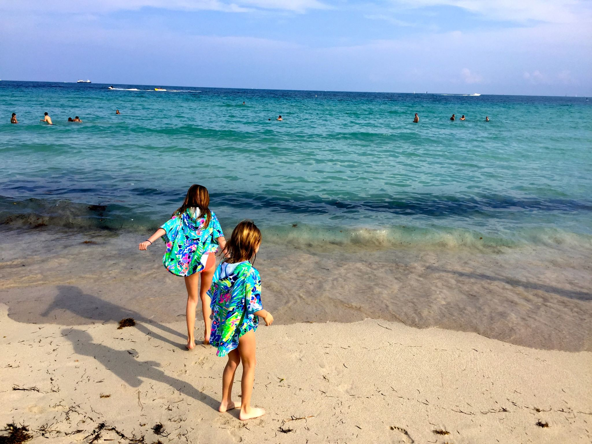 Kids Playing At The Beach In South Miami