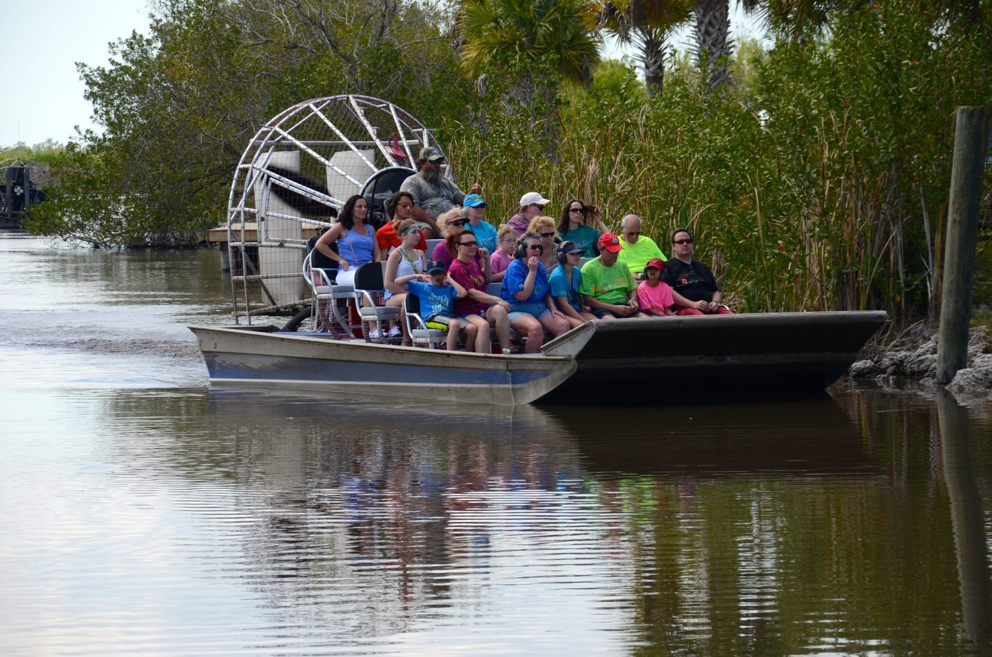Taking an airboat ride not in New Orleans but in Florida!