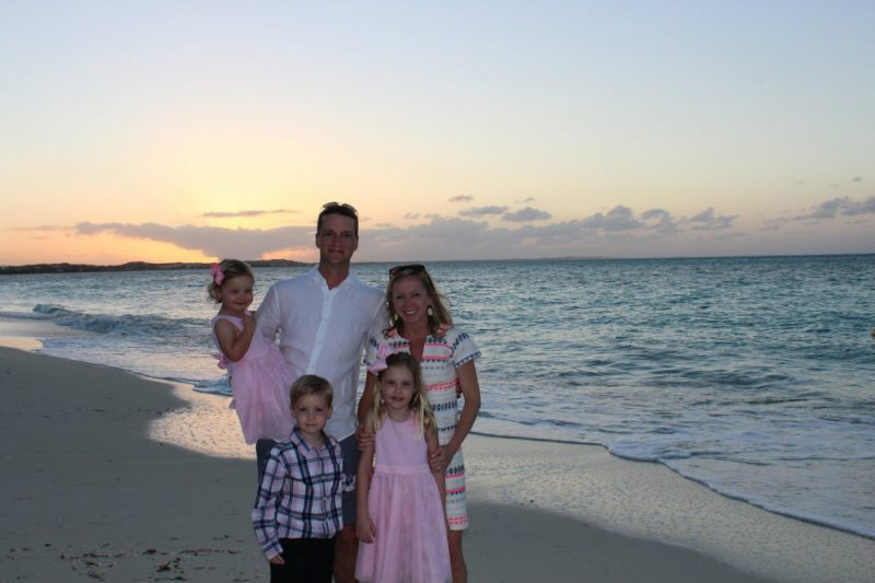 Sunset hour at Beaches resort at Turks and Caicos.