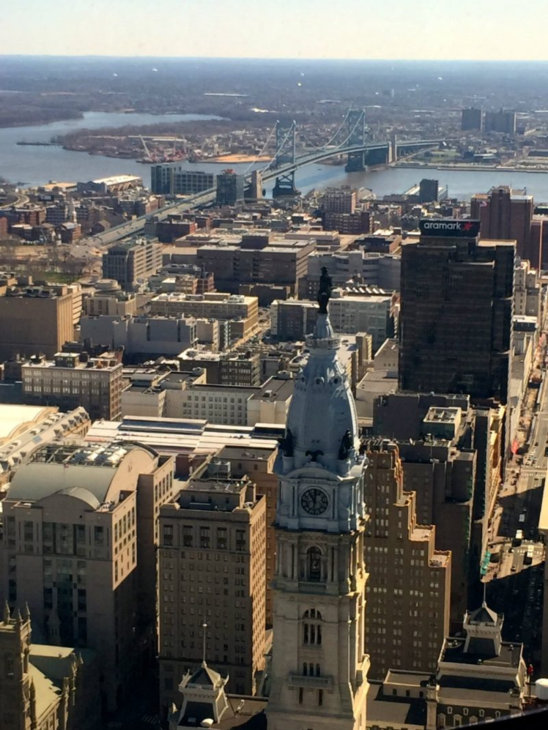 View from One Liberty Observation Deck in Philadelphia.