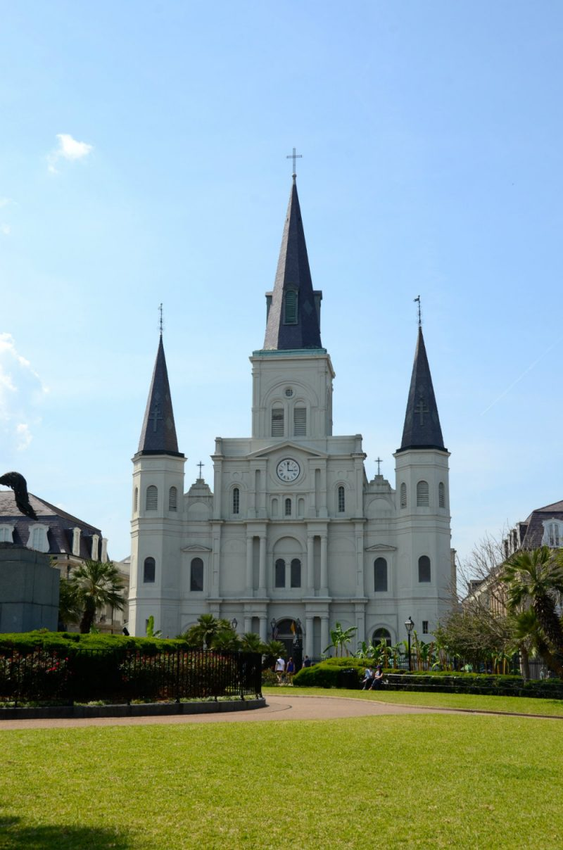 St. Louis Cathedral in Jackson Square in the French Quarter in New Orleans.
