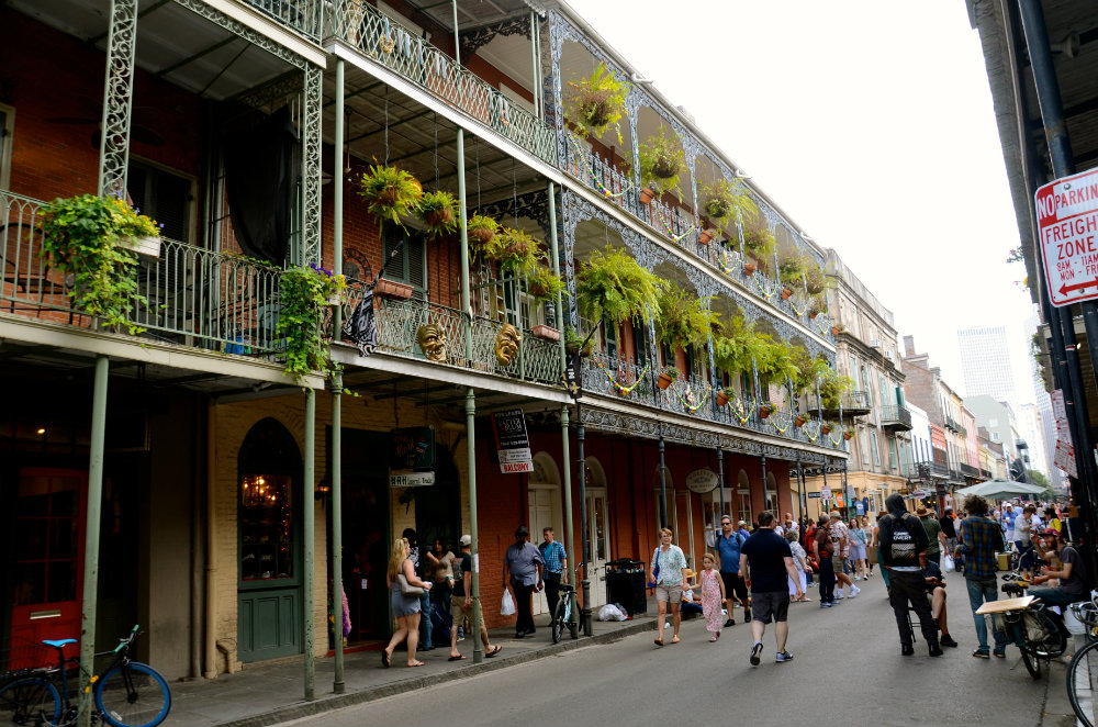 Walking around the French Quarter in New Orleans.