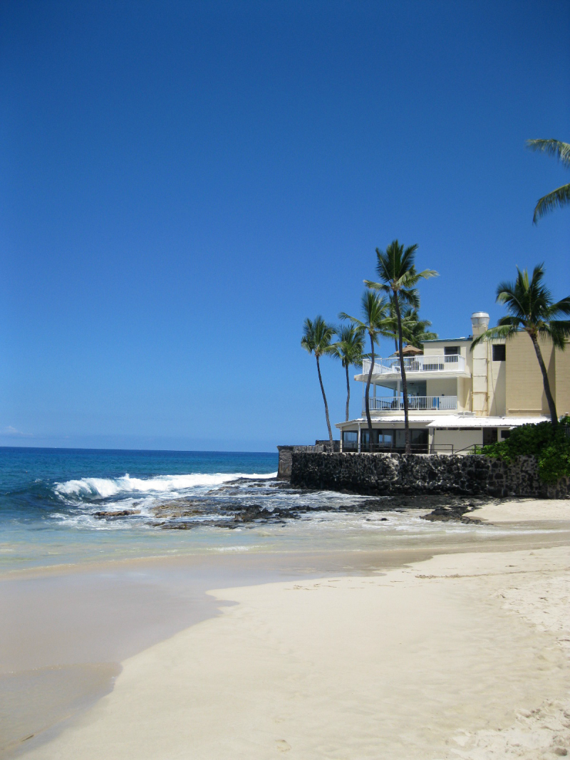 Condo on the beach in Hawaii.