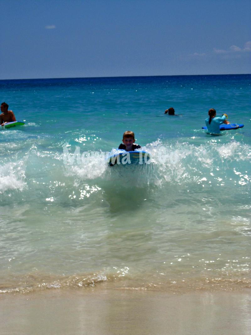 Hitting the beach in Hawaii.