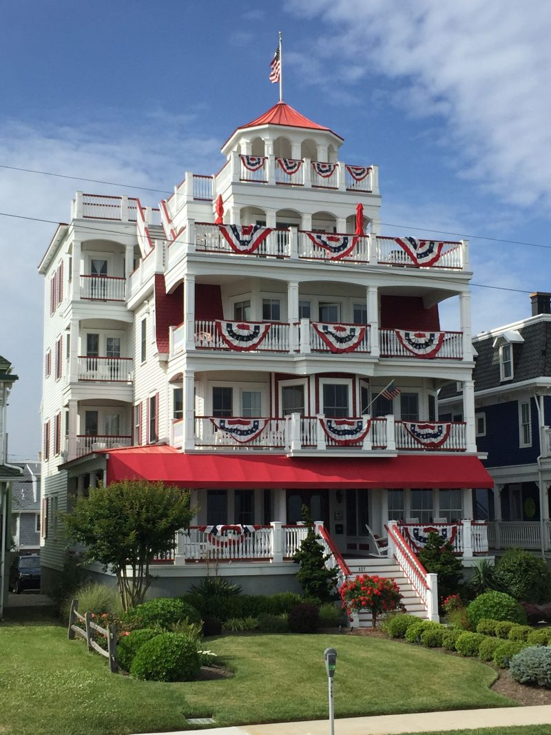 House in Cape May, NJ with Independence Day decorations