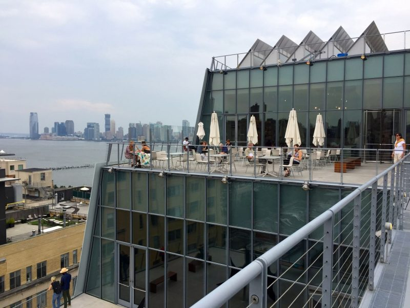 Visiting the Whitney Museum in New York in the summer.