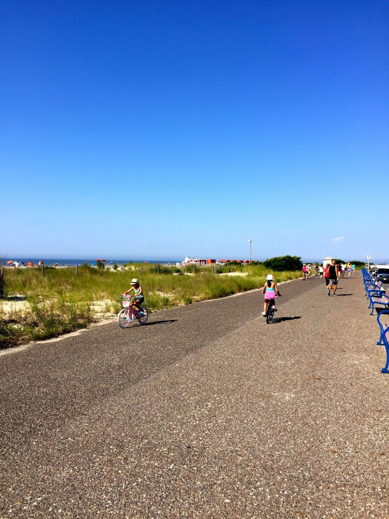 Biking is a favorite past time in Cape May, New Jersey.