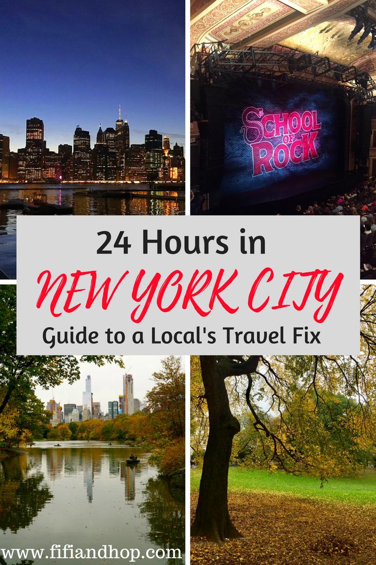 24 hours in New York City for local travel fix.