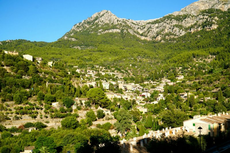 The mountain village of Deia in Mallorca.