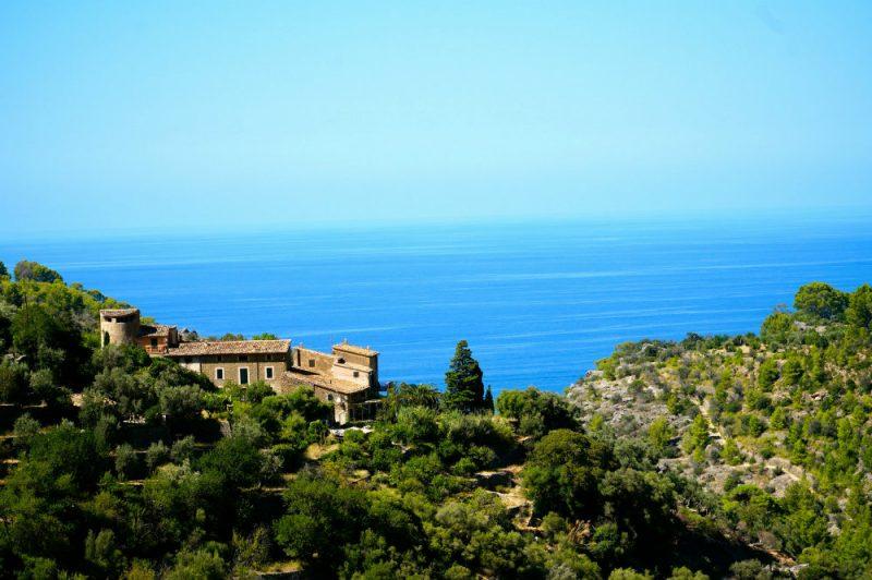 View of the sea in Deia in Mallorca