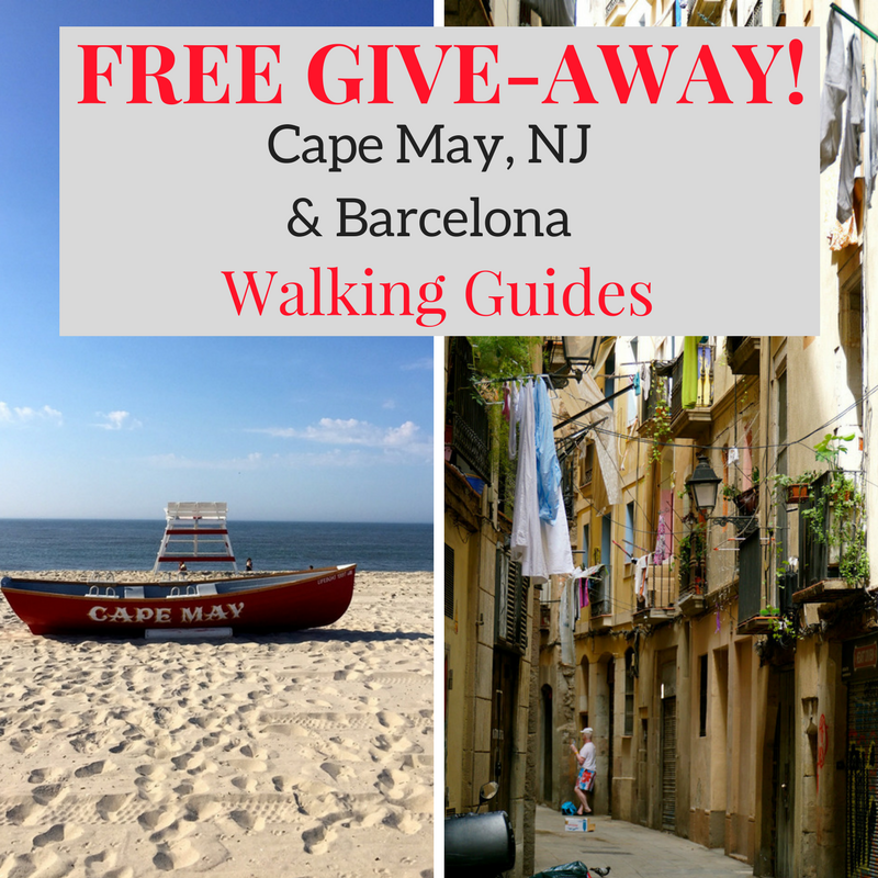 Free Give-Away! Cape May, NJ and Barcelona Walking Guides