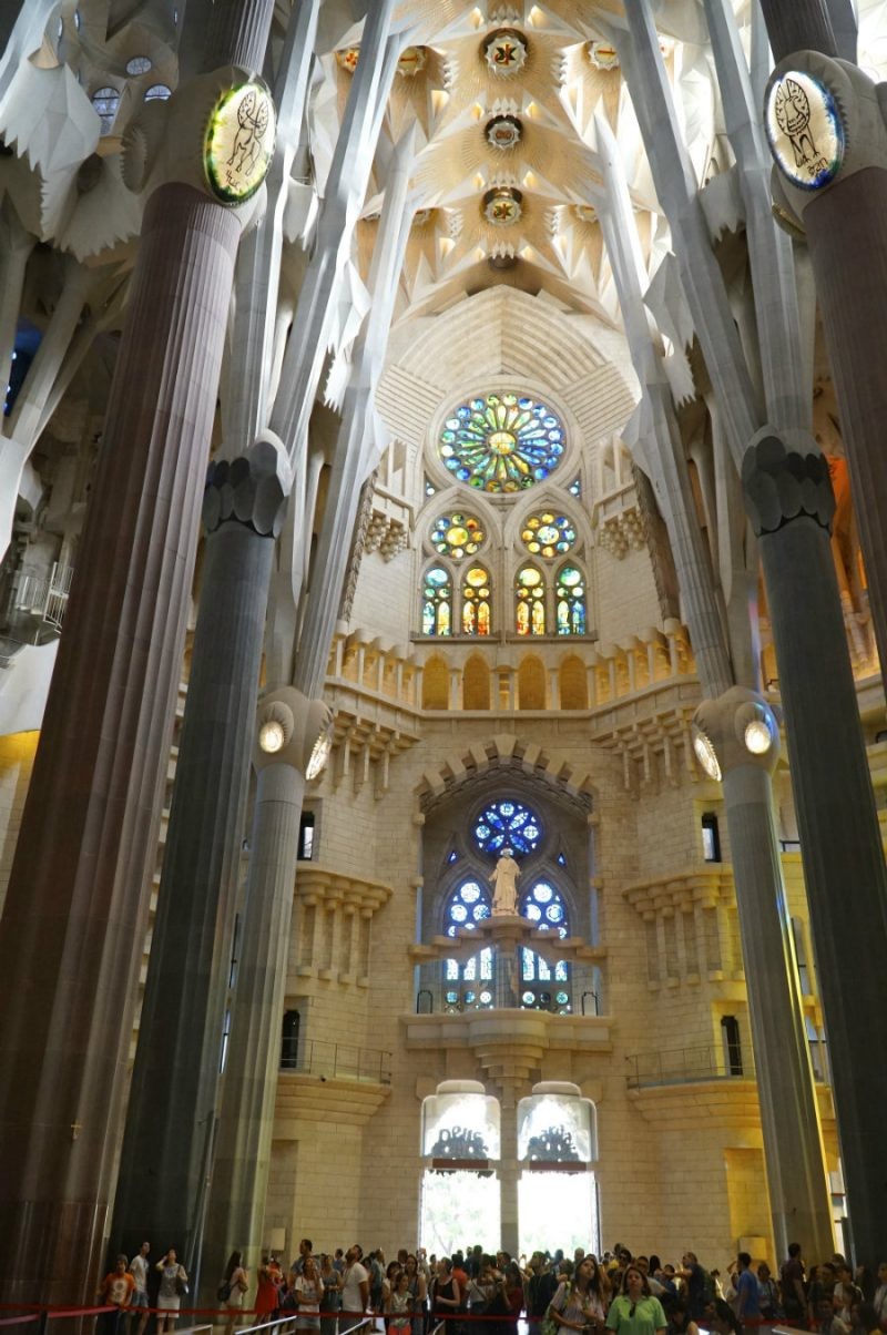 A visit to the Sagrada Familia in Barcelona the day after the terrorist attack.