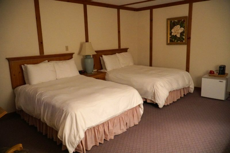 Our bedroom at the Swiss Hutte in Hillsdale, NY