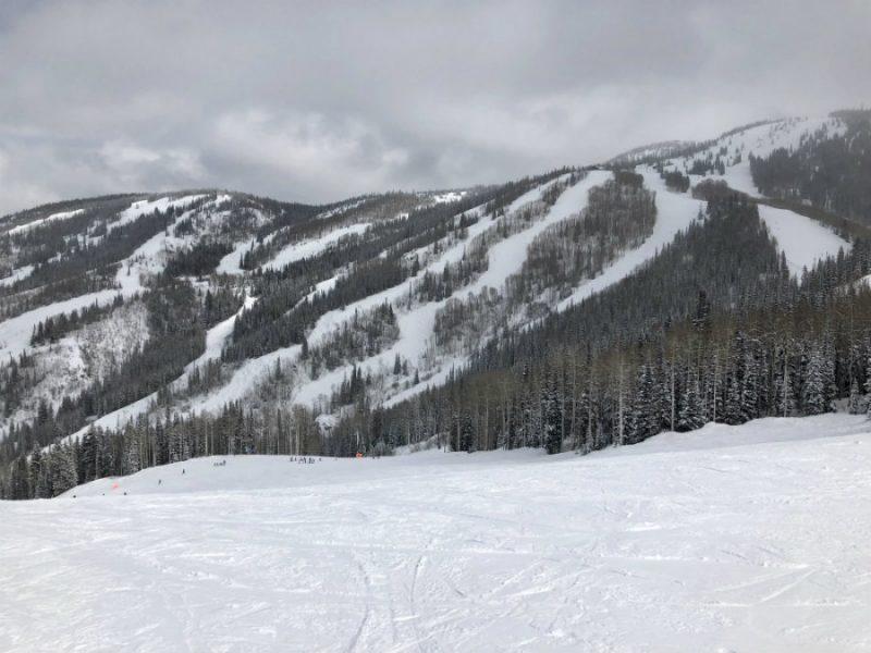 Skiing at Steamboat Springs ski resort in Colorado