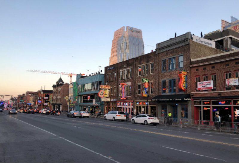 Walking in Downtown Nashville on Broadway