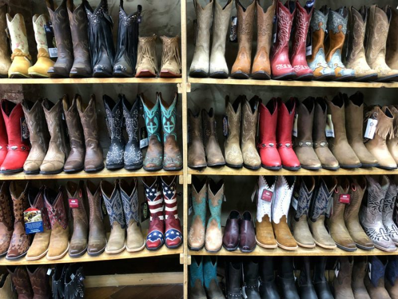 Cowgirl boot shopping in Downtown Nashville