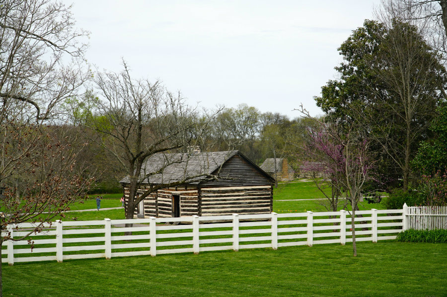 Alfred's cabin at The Hermitage at Andrew Jackson's home in Nashville.