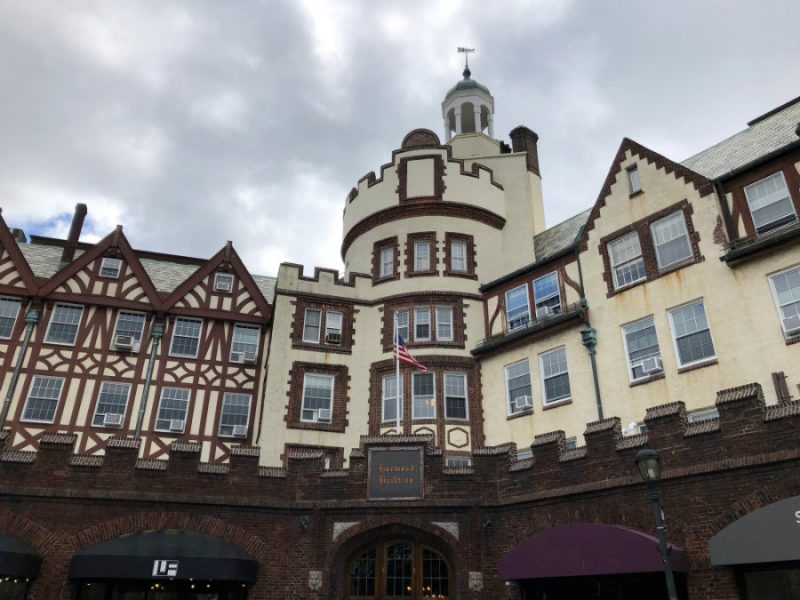 Beautiful tutor buildings in the village of Scarsdale